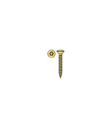 Vite Testa Goccia di Sego Tecfi con impronta a Croce tipo Z per Truciolare in acciaio cementato, Zincata Bianca