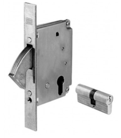 hook lock reentrant AGB B00856 with cylinder for metal section
