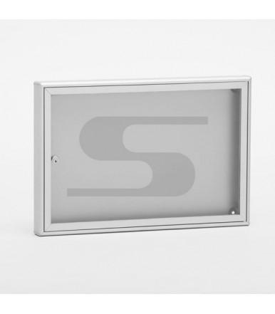 Bacheca porta avvisi SB1 da 550 x 370 x 40 mm formato DIN A3 alluminio silver