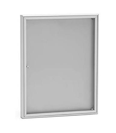 SB1 notice board 550 x 690 x 40 mm DIN A2 format aluminum silver