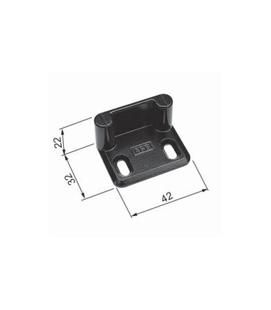 Corner closing plate for black espagnolette for wooden pvc or aluminum shutters AGB H00901