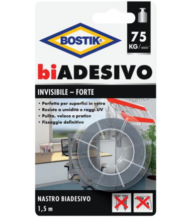 Bostik biADESIVO Invisibile Tape of 1,5 m in blister