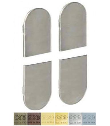 Metal cover kit for ECLIPSE 3.2 flush hinge Matt chrome