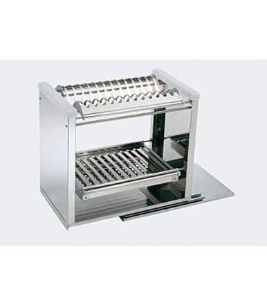 Removable countertop dish rack in TecnoInox stainless steel