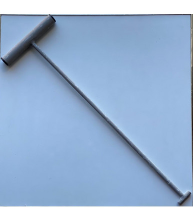 Rod for lifting manholes in painted iron