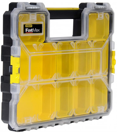 Small parts organizer box with 10 compartments, FATMAX Stanley 1-95-517