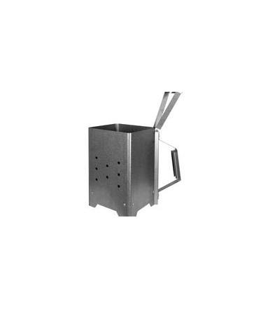 Ignition Kamin für Kohle mit Nerone Griff zum Grillen