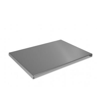 Plan Sie Piccolo Edelstahl Schneidebrett 55x40 Backbrett für die Küche