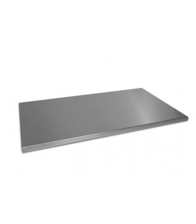 Plan Edelstahl Schneidebrett 55x100 Gebäckbrett für die Küche