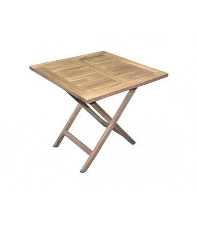 Vulcano square table 80 × 80 cm folding in teak wood