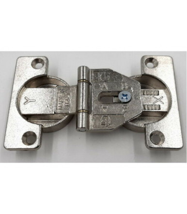 Double mounting hinge Ø 35 mm with movable axle