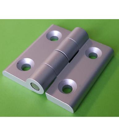 Comb hinge EPM137NT in natural aluminum alloy 50x50 mm