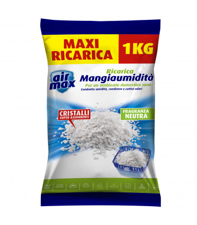 Air Max ® ricarica sali assorbenti 1 kg neutro per kit Assorbiumidità ambiente