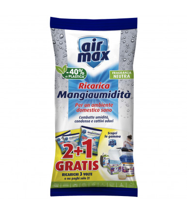 Air MAx ® refill absorbent salts 1,35 kg neutral for Absorbing ambient humidity kit