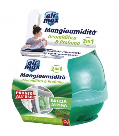 Air MAx ® Mangiaumidità deumidifica e profuma 40 gr freschezza alpina