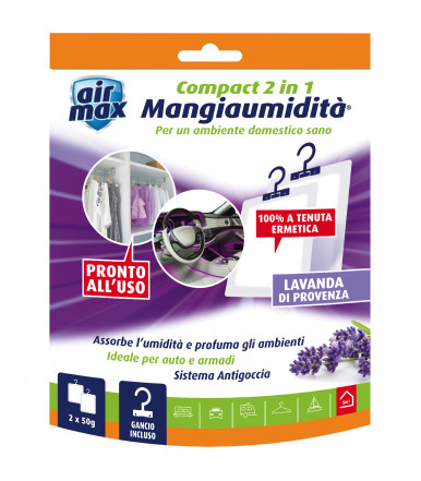 Air Max ® Compact 2 in 1 Hanging Moisture Eater Lavender de Provence 2x50g