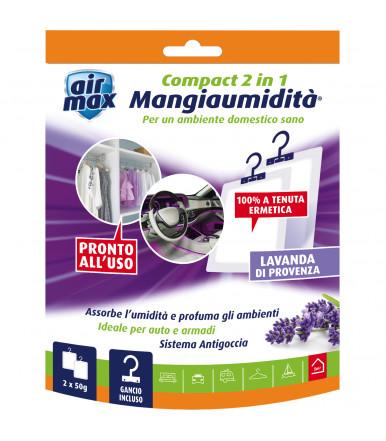 Air Max ® Mangiaumidità appendibile Compact 2 in 1 Lavanda di Provenza 2x50g