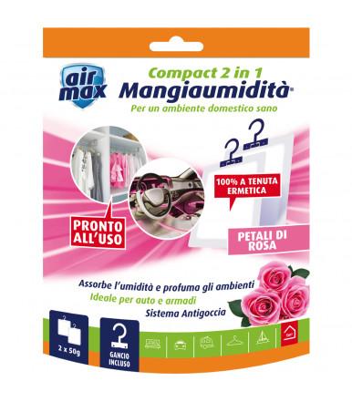 Air Max ® Mangiaumidità appendibile Compact 2 in 1 petali di rosa 2x50g