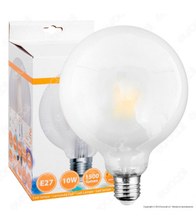 SkyLighting - satin globe LED lamp - 10W E27 4200K Series Filament Led