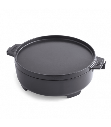 Weber Cocote 2 in 1, cast iron gourmet bbq system 8857 with flat lid for griddle