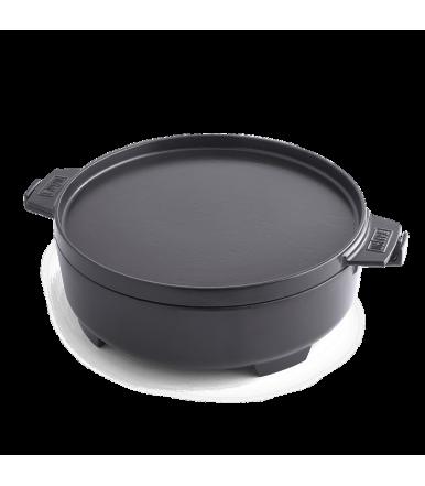 Weber Cocote 2 in 1, Gusseisen-Gourmet-Grillsystem 8857 mit flachem Deckel für Grillplatte