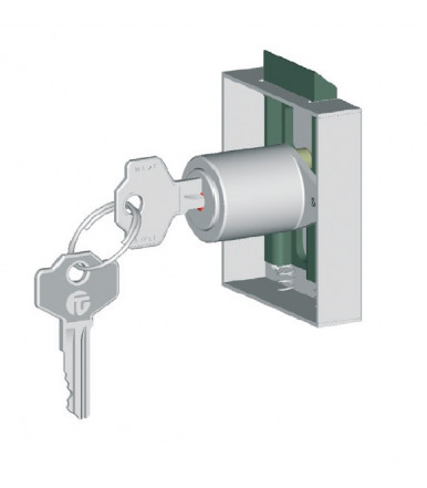 Latch lock for door or drawer S3A with half box Giussani FG