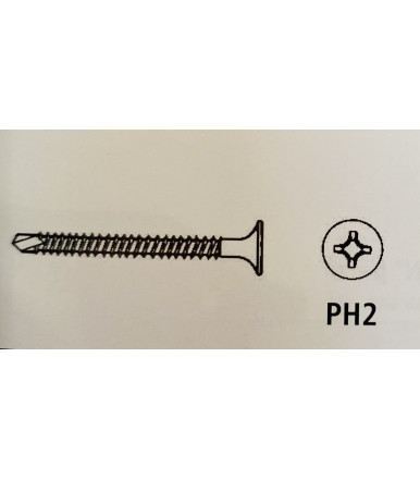 Screw taped phosphorized with self-drilling tip 3.5 x 35 Makita 1000 pcs