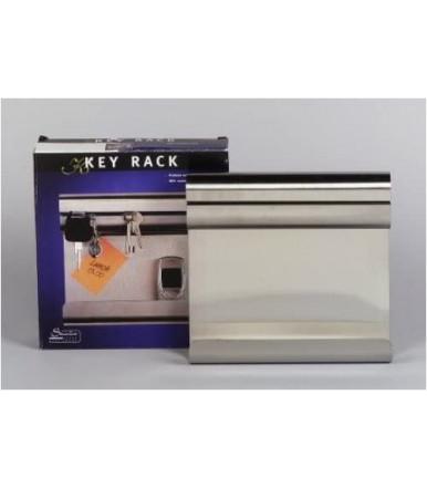 Bacheca porta chiavi e portaoggetti 190x210mm in acciaio inox