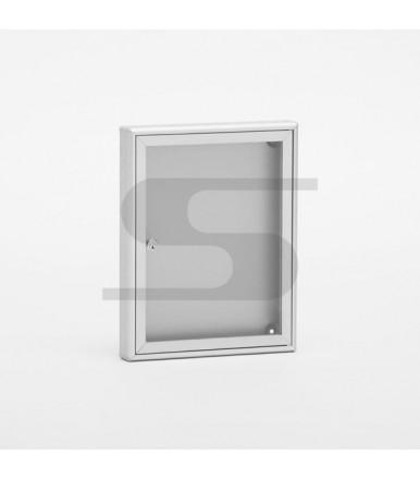 SB1 notice board 290x370x40mm DIN A4 format Silver