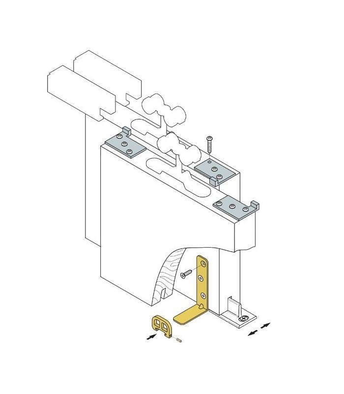 Sistemi Per Ante Scorrevoli.Kit Di Trascinamento Koblenz Regolabile Per Ante Scorrevoli Parallele