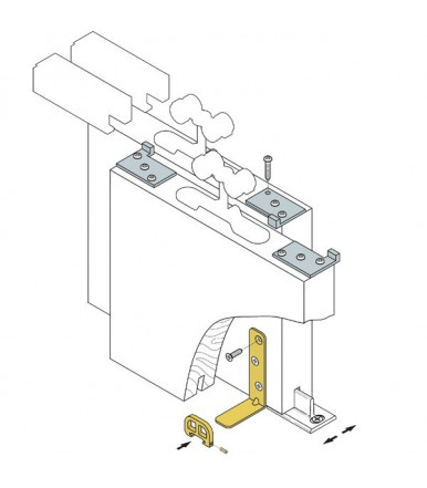 Kit sistema scorrevole per porte portata 40 Kg