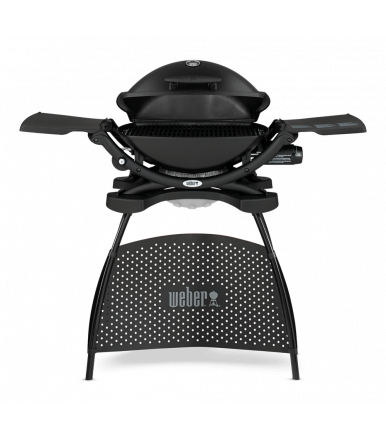 1280/5000 Q2200 Black gas barbecue with Weber support