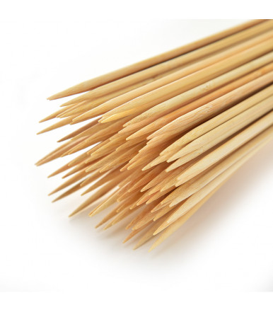 Bamboo sticks with tip for skewers and skewers Ø 3.0 mm of 250 mm 100 pcs