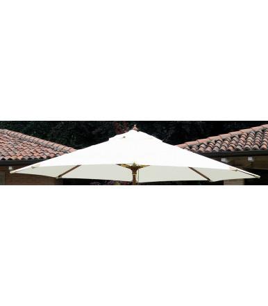 Ecru' cover for round umbrella Ø 3 mt with central pole E4000