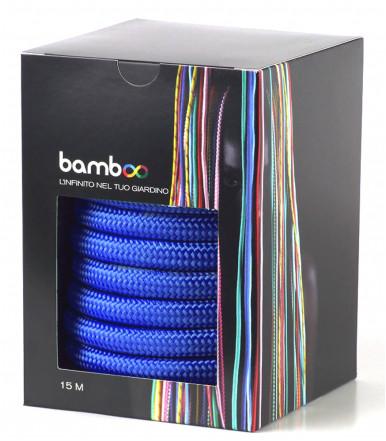 2 layers extensible garden hose, anti-knots anti-torsion 5-15 mt Blue