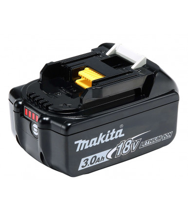 Makita 197599-5 BL1830B rechargeable battery 18V Lithium 3.0 Ah with charge indicator