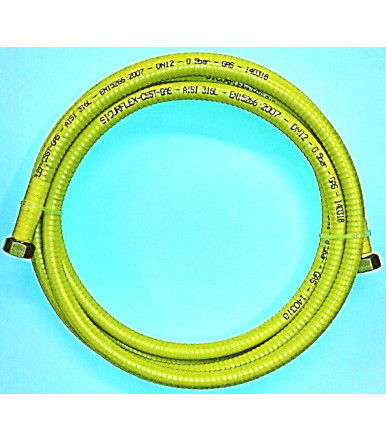 Kit flexible Inox hose for gas SICURFLEX CSST GAS LONG F/F