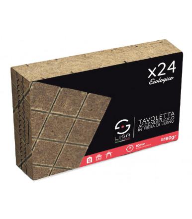 Firelighter small board in wood fiber 24 pcs