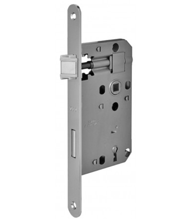 Lock Euro72 forend 20 mm round ends with key lock for internal door AGB