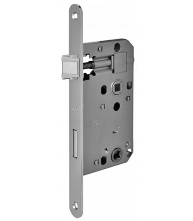 Lock Euro72 forend 20 mm round ends with bathroom lock Wc for internal door AGB