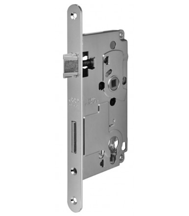 Lock Euro72 forend 20 mm round ends with cylinder lock for internal door AGB