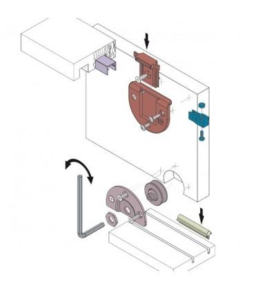 Sistemi Scorrevoli Per Ante Mobili.Kit Sistema Scorrevole Koblenz Per Ante Portata 60 Kg Shop Mancini
