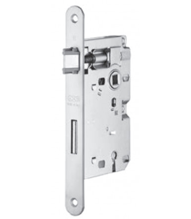 Lock Patent Piccola forend 20 mm round ends with key lock for internal door AGB