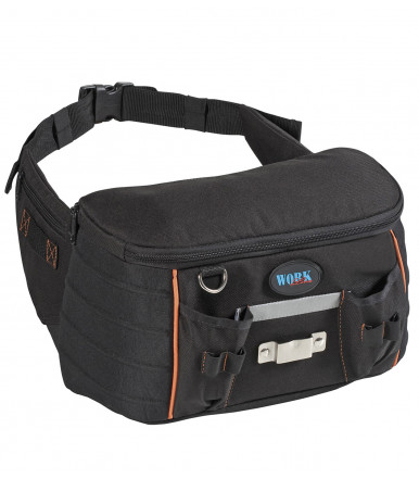 TOP BUMBAG N belt bag with adjustable tool holder on the belt with bib that can be folded inside