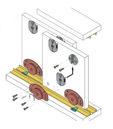 Koblenz Kit System for sliding doors capacity 25 Kg