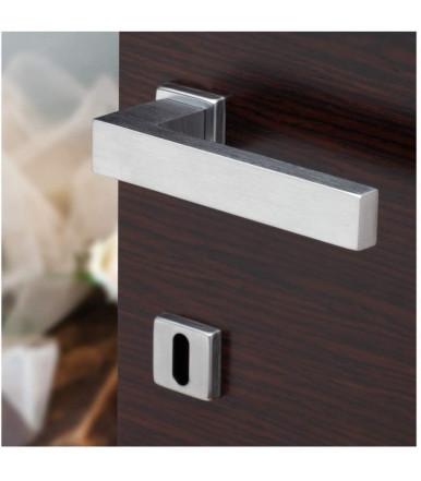 Handle with square rosette for Ghidini York-Z Mignon doors