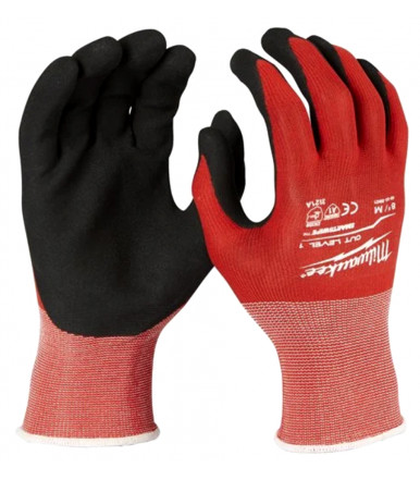Dipped gloves for light application Milwaukee CUT LEVEL 1/A