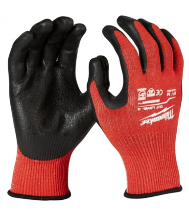 Dipped gloves for medium application Milwaukee CUT LEVEL 3/C