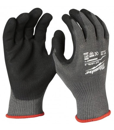Dipped gloves for heavy application Milwaukee CUT LEVEL 5/E