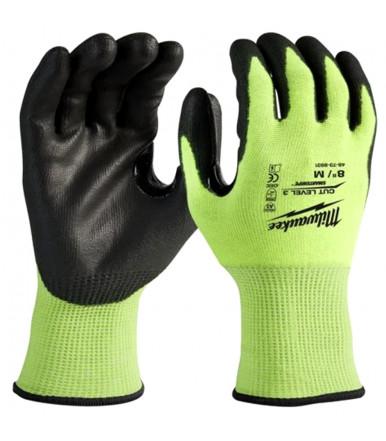 Dipped gloves Hi-Vis Milwaukee CUT LEVEL 3/C